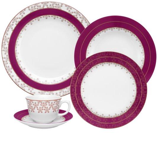 Jogo de Jantar e Chá Flamingo Dama de Honra Oxford