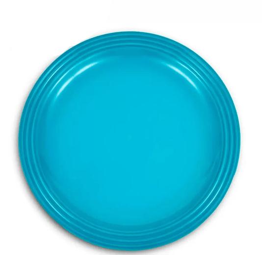 Kit 4 Pratos Rasos 22 cm Azul Caribe Le Creuset