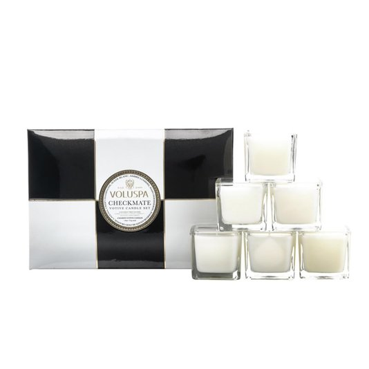 Kit com 6 Mini Velas Checkmate Voluspa 15 Horas