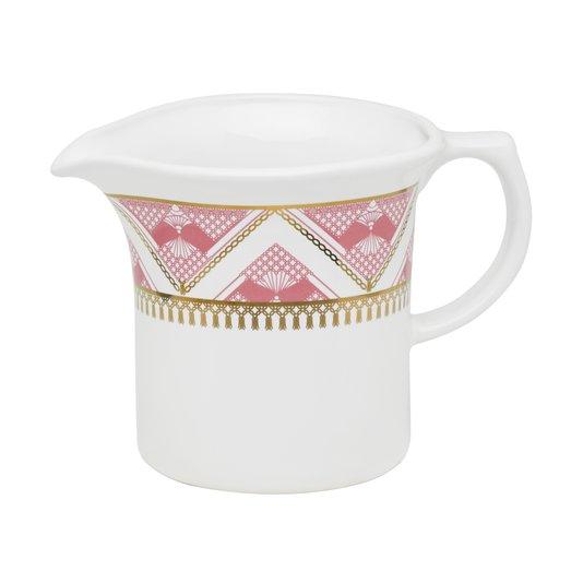 Leiteira de Porcelana Flamingo Macrame Oxford 600 ml