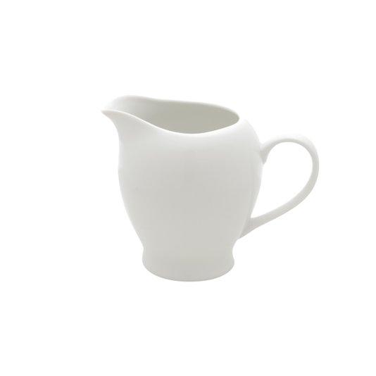 Leiteira de Porcelana Lisa Branca Bon Gourmet 180ml