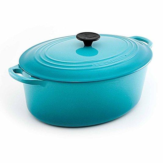 Panela Oval Le Creuset Azul Caribe 27 cm