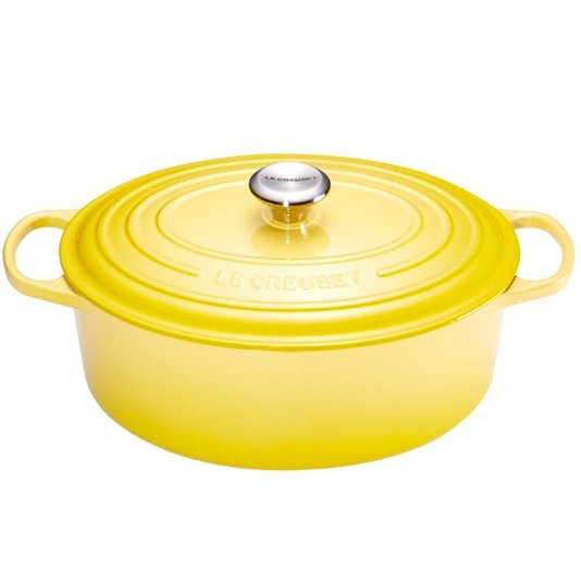 Panela Oval Le Creuset Signature Amarelo Soleil 27 cm