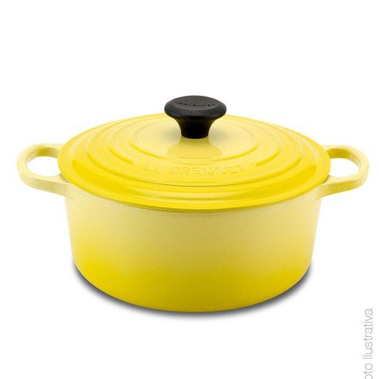 Panela Redonda Le Creuset Amarelo Soleil 18 cm