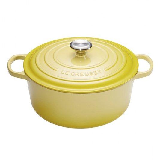 Panela Redonda Le Creuset Signature Amarelo Soleil 28 cm
