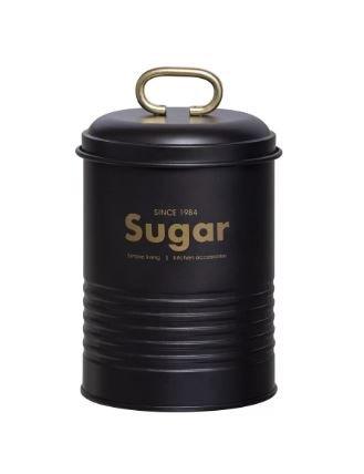 Porta Condimentos Industrial Sugar Martiplast Preto e Dourado 15 cm