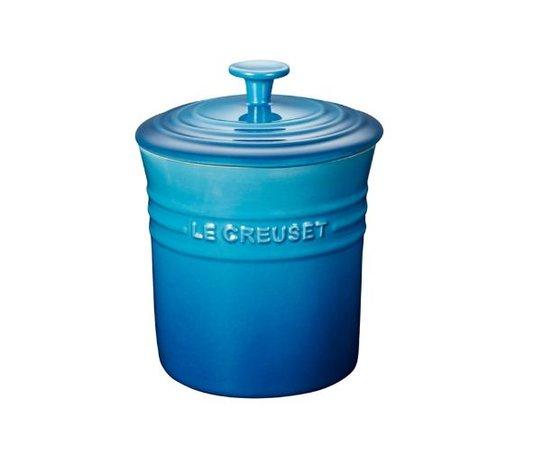 Porta Condimentos Médio em Cerâmica Le Creuset Azul Marseille 400 ml
