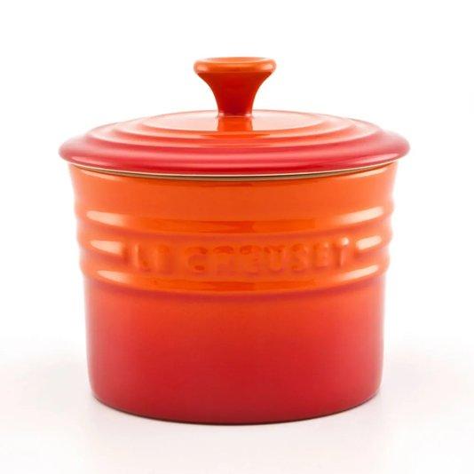 Porta Condimentos Médio Le em Cerâmica Le Creuset Laranja 400 ml