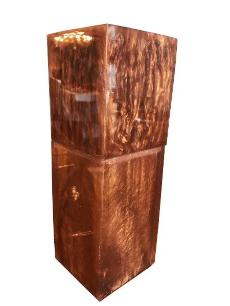 Porta Escova de Dentes Square em Resina Ambar Perolado Alúmen Design