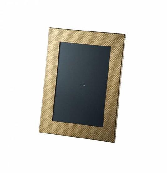 Porta Retrato Toscana Velvet Riva Titânio Ouro 15 x 21 cm