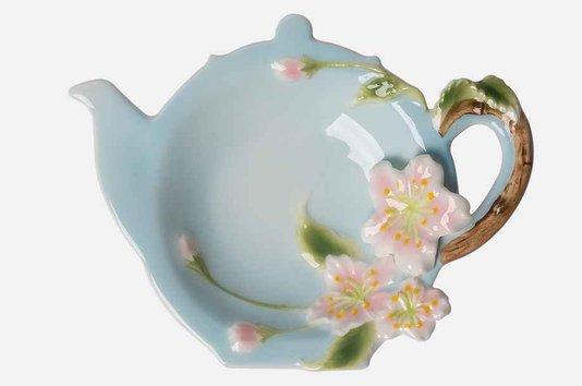 Porta Saquinho de Chá Iris em Porcelana Manu Fisch