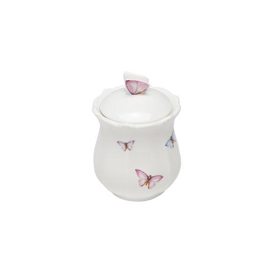 Pote de Porcelana com Tampa Borboletas Rojemac 350 ml