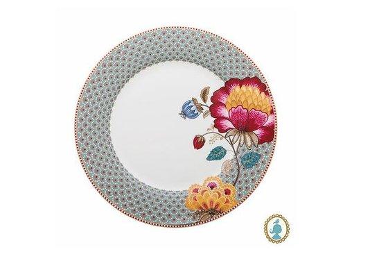 Prato de Jantar Floral Fantasy Pip Studio Azul 27 cm