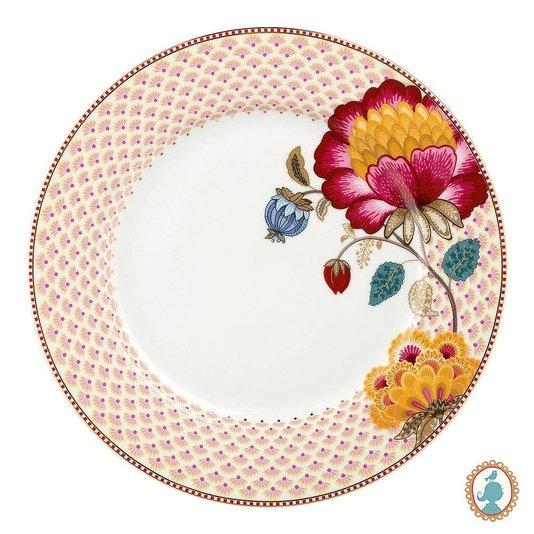Prato de Jantar Floral Fantasy Pip Studio Branco