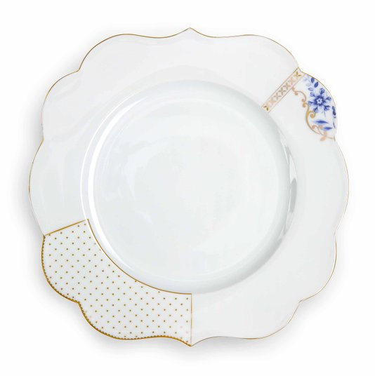 Prato de Jantar Royal White Flowers Pip Studio 28 cm