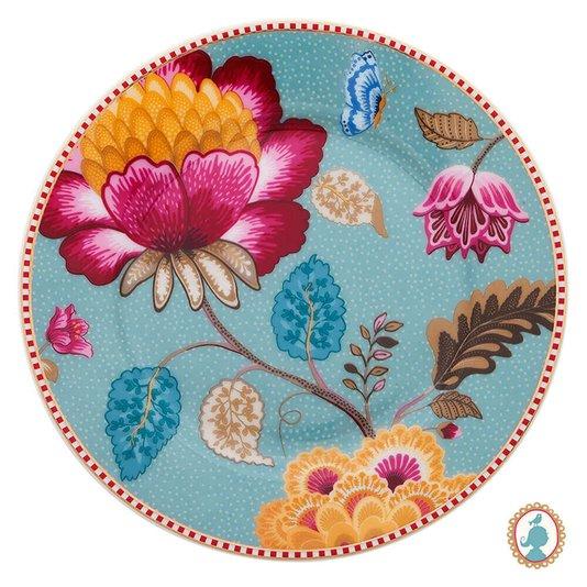 Prato de Pão Floral Fantasy Pip Studio Azul 17 cm