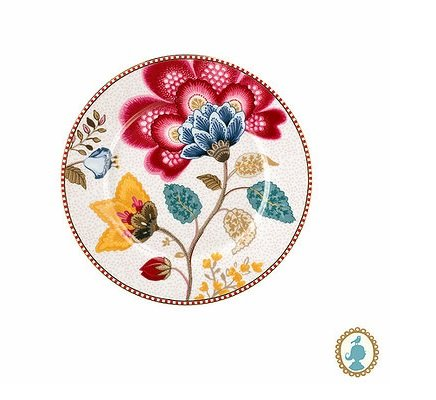 Prato de Pão Floral Fantasy Pip Studio Branco