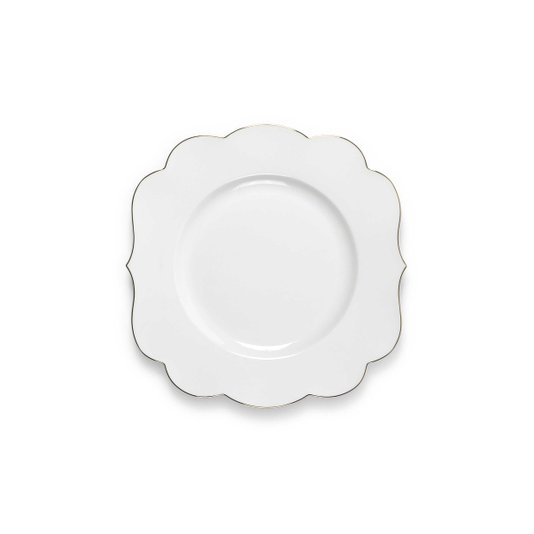 Prato de Sobremesa Royal White Pip Studio 23 cm