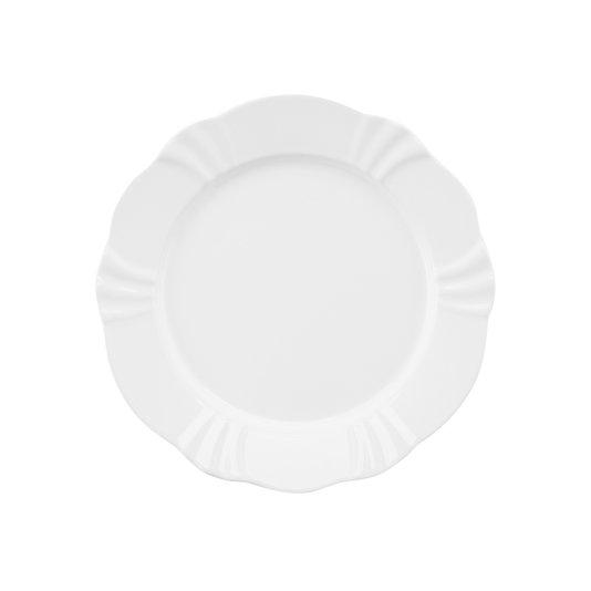 Prato de Sobremesa Soleil White Oxford Branco 23 cm