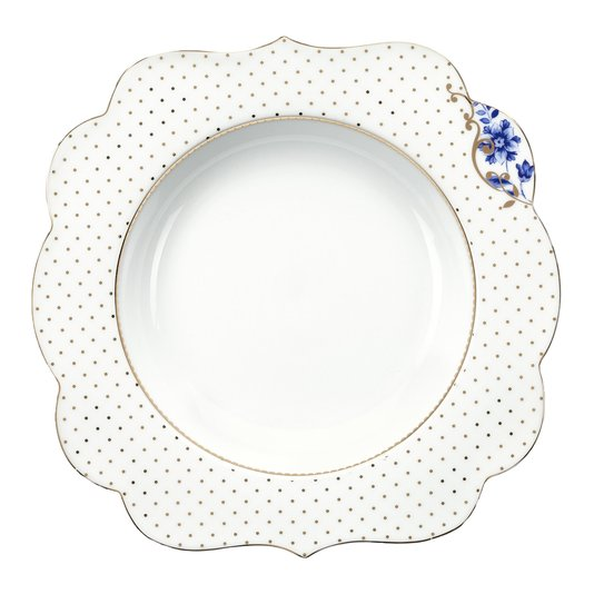Prato de Sopa Royal White Flowers Pip Studio 23 cm