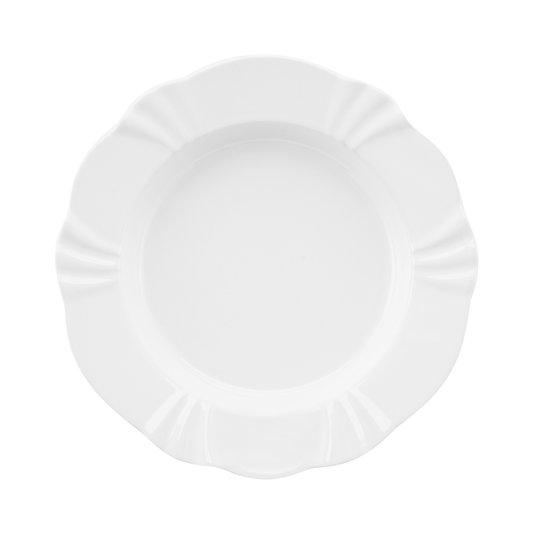 Prato Fundo Soleil White Oxford Branco 24 cm