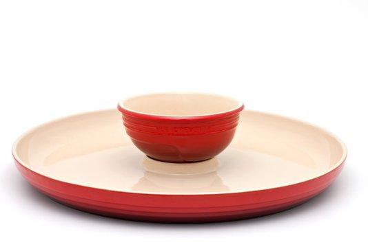 Prato para Aperitivo de Cerâmica Le Creuset Vermelho