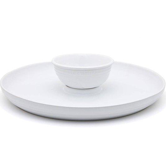 Prato para Aperitivo de Cerâmica Le Creuset Branco 36 cm
