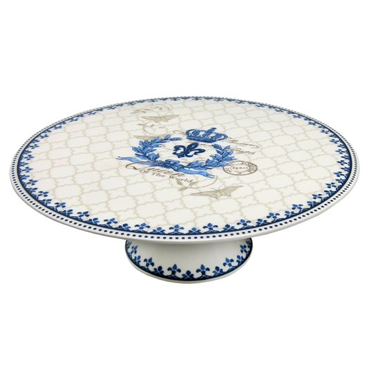 Prato para Bolo com Pé Blue Dream Nusa Dua