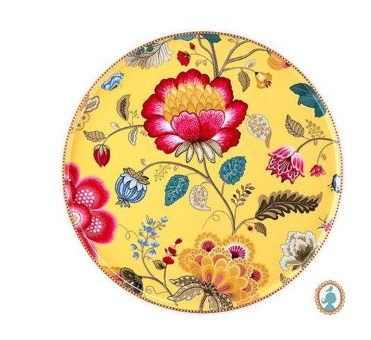 Prato para Bolo Floral Fantasy Pip Studio Amarelo 32 cm