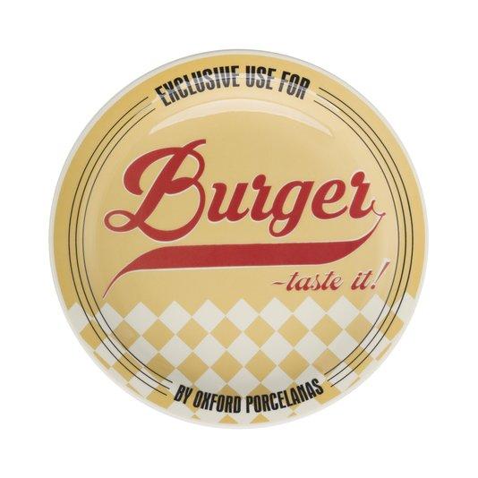 Prato Raso Burger Oxford Amarelo 26 cm
