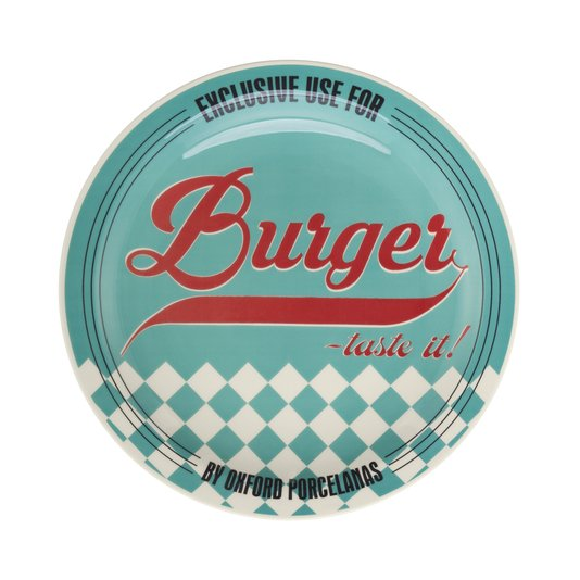 Prato Raso Burger Oxford Azul 26 cm