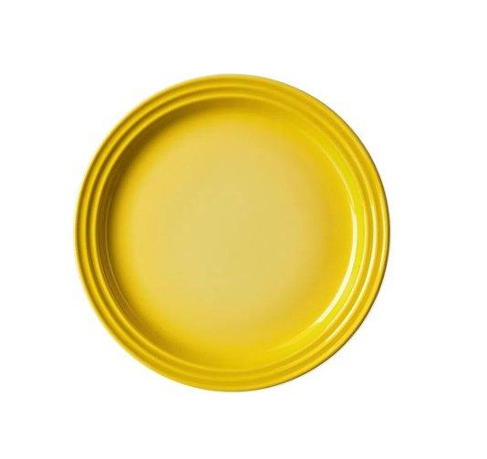 Prato Raso de Cerâmica Le Creuset Amarelo Soleil 22 cm