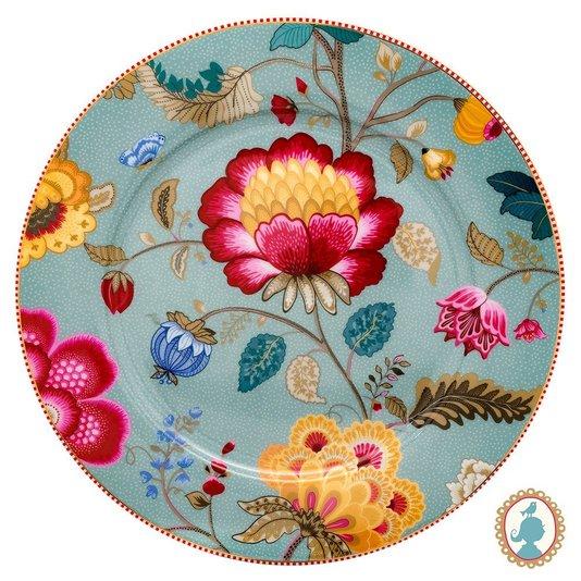Prato Sousplat Floral Fantasy Pip Studio Azul 32 cm