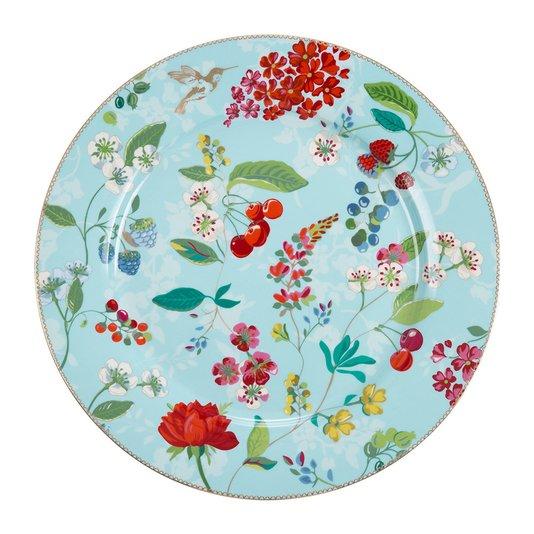Prato Sousplat Hummingbirds Floral Pip Studio Azul 32 cm