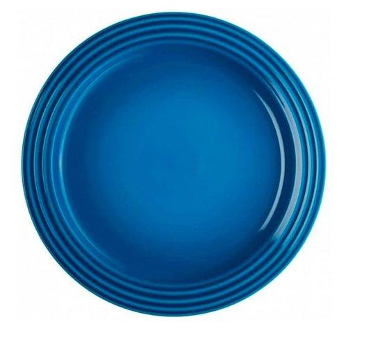 Prato Raso de Cerâmica Le Creuset Azul Marseille 22 cm