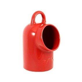 Saleiro de Porcelana Oxford Vermelho