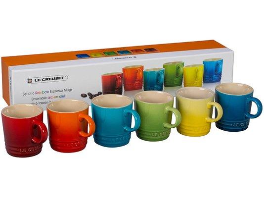 Set 06 Canecas Espresso Gift Collection Le Creuset Colorido