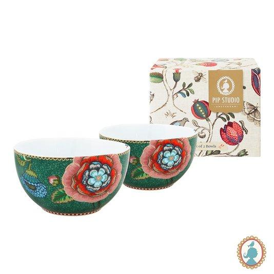 Set com 2 Tigelas Bowl Spring To Life Pip Studio Verde 12 cm