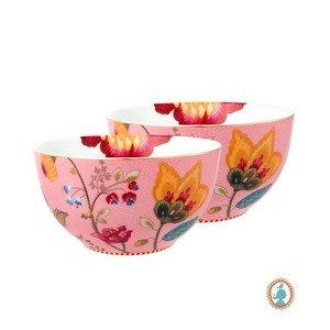 Set com 2 Tigelas Floral Fantasy Pip Studio Rosa 15 cm
