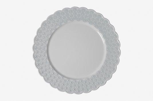 Sousplat para Jantar em Polipropileno Manu Fisch Branco 33 cm