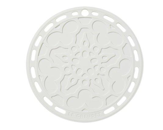 Suporte de Silicone Mandala Le Creuset Branco