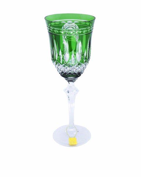 Taça para Água em Cristal Overley Mozart Verde Escuro 460 ml