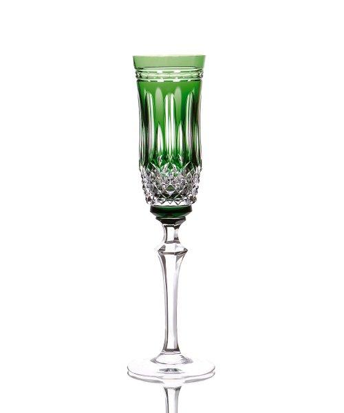 Taça para Champagne em Cristal Overley Mozart Verde Escuro 240 ml