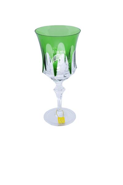Taça para Licor em Cristal Overley Mozart Verde Escuro 80 ml
