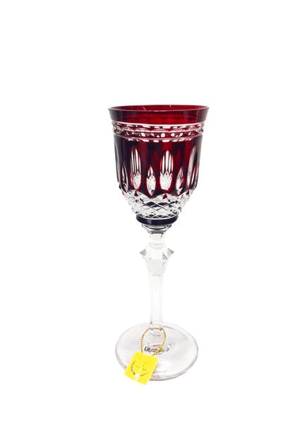Taça para Licor em Cristal Overley Mozart Vermelho 110 ml