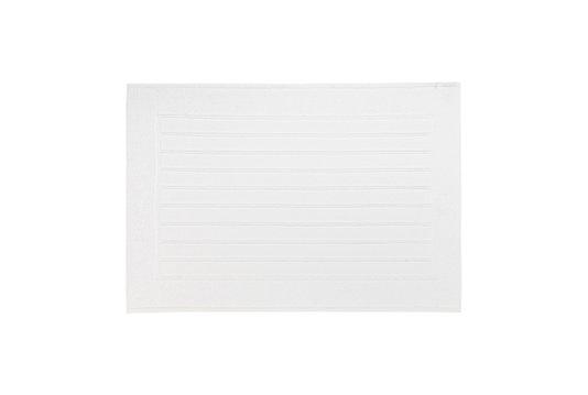 Tapete Piso Antiderrapante Scala Trussardi Branco 86cm x 60cm
