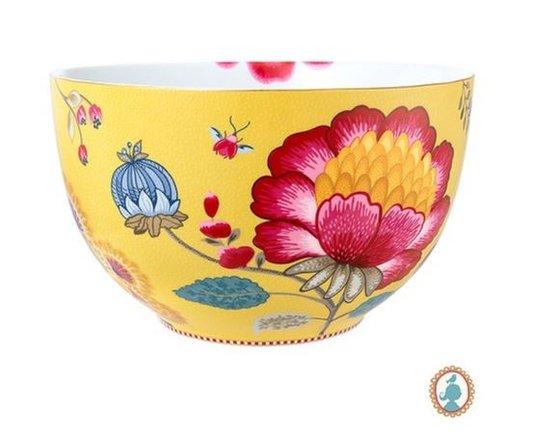 Tigela Floral Fantasy Pip Studio Amarelo 23 cm