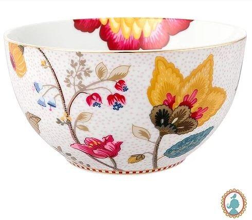 Tigela Floral Fantasy Pip Studio Branco 15 cm