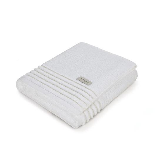 Toalha De Banho Palladio Branco e Arenito 86x150cm