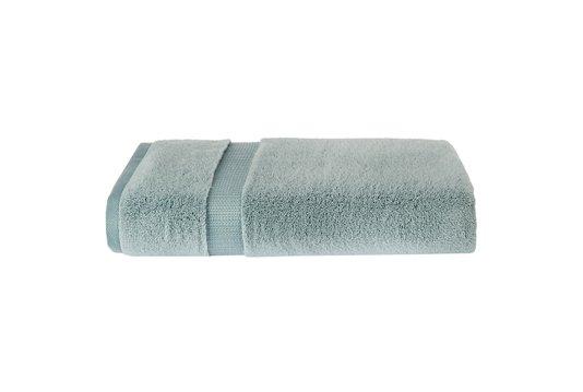 Toalha de Rosto Extra Cotone Doppia Trussardi Verde Blu 48cm x 90cm
